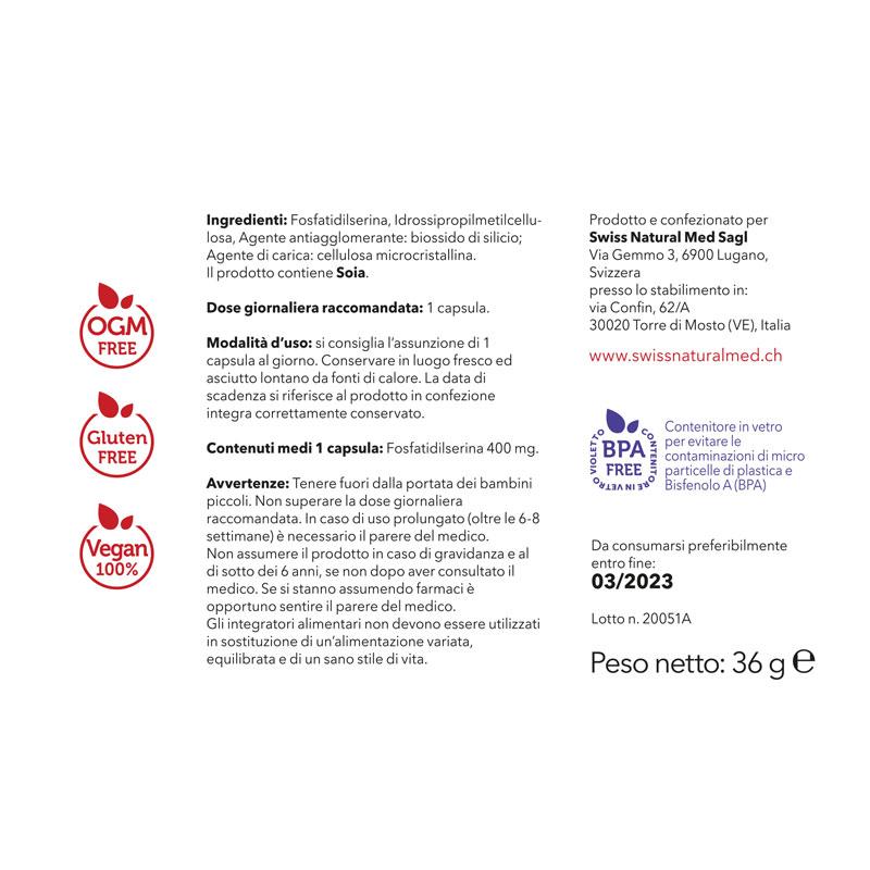 SwissNaturalMed Brainup etichetta