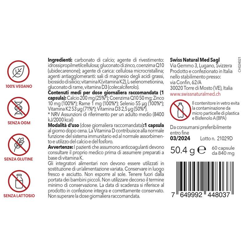 SwissNaturalMed Immuncare etichetta