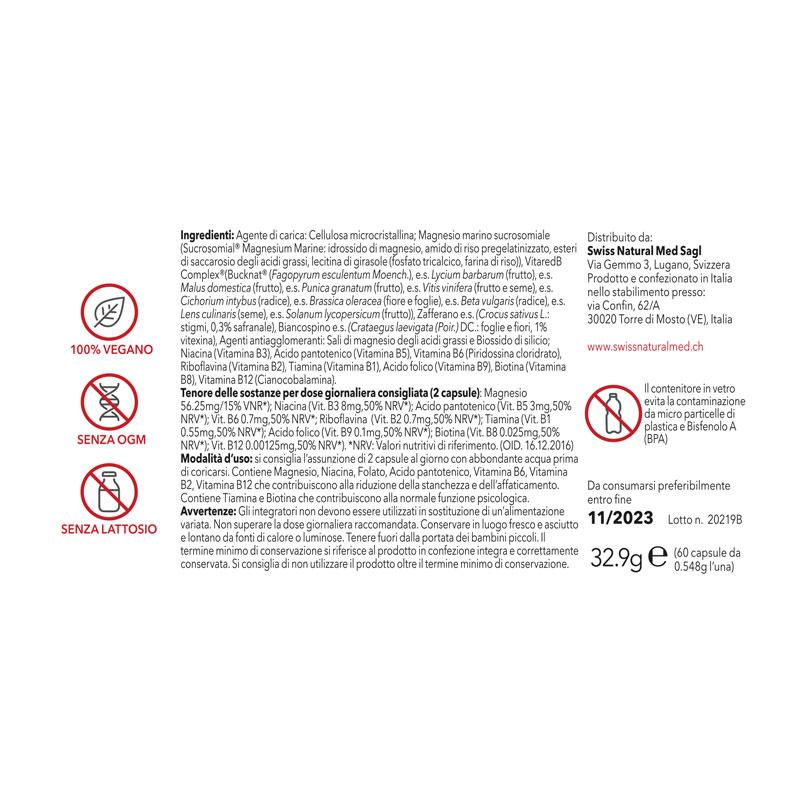 SwissNaturalMed Nightrelax etichetta